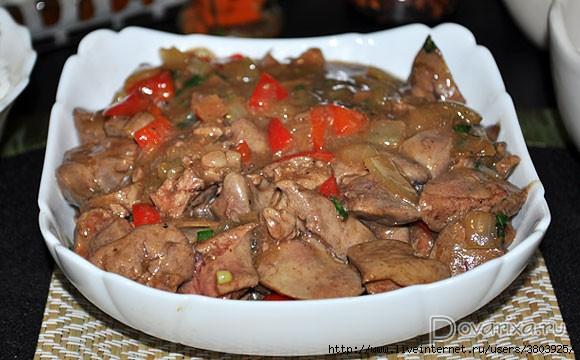 Вкуснейшая куриная печень по-китайски
