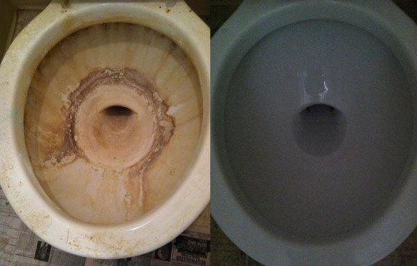 4 эффективных способа удаления известкового налета и мочевого камня в унитазе