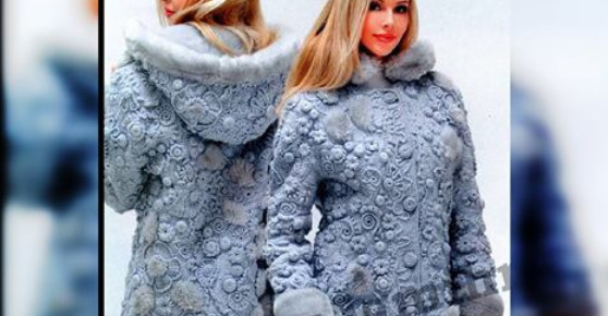 Потрясающее пальто в технике…