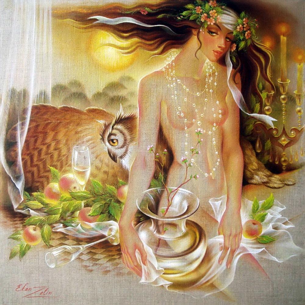Великолепные композиции художницы Elen Zelin (Элен Зелин)