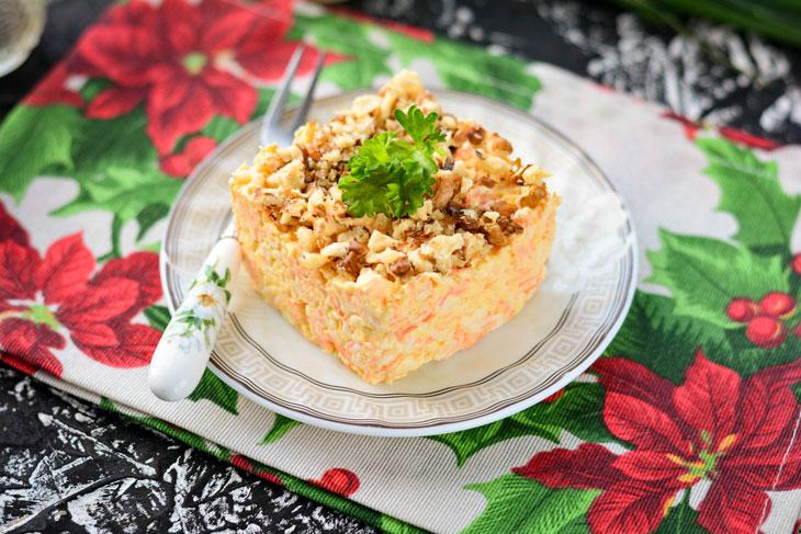 Салат «Белочка» — быстрый и вкусный рецепт, когда гости уже на пороге