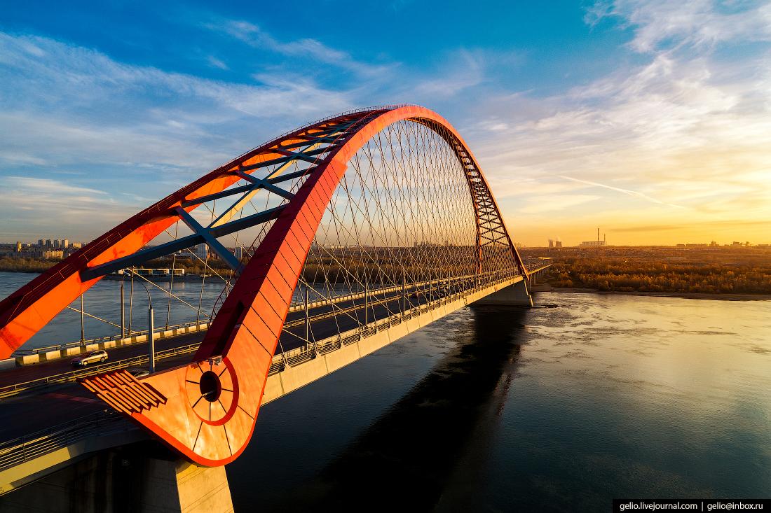 Новосибирск с высоты - самый большой город Сибири