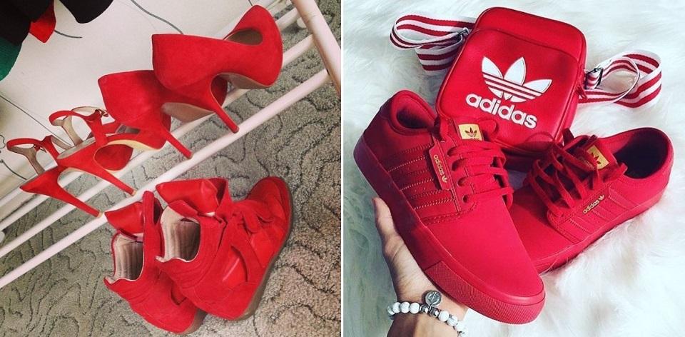 Красная обувь 2018 с чем носить фото образы стильные луки