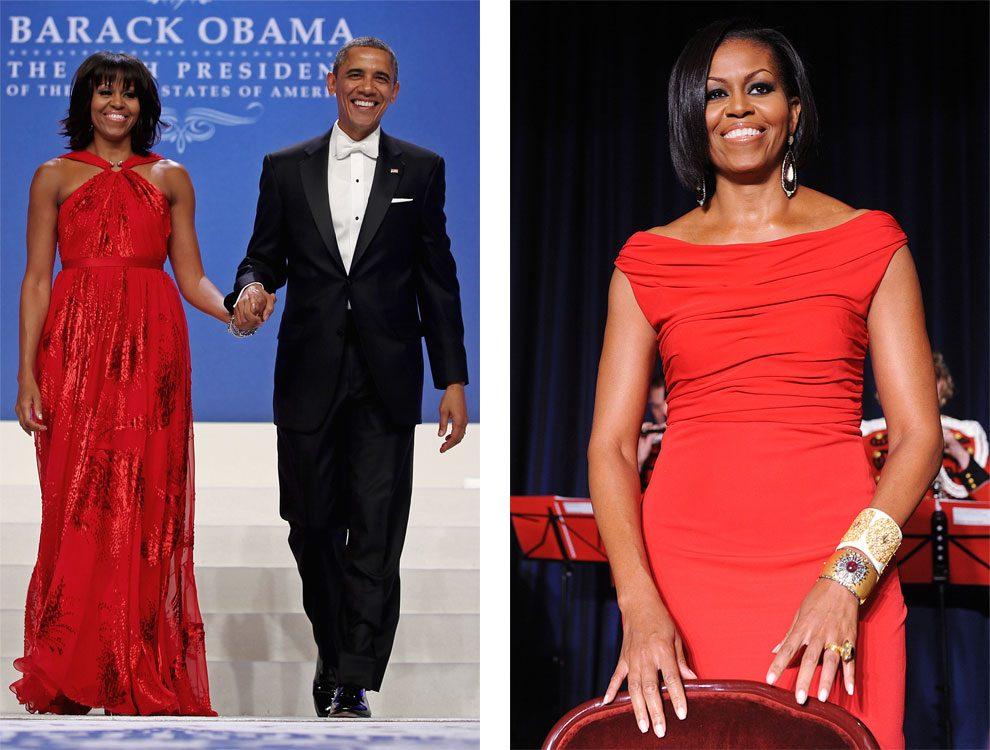 Мишель в Jason Wu и Барак Обама на балу Commander-in-Chief