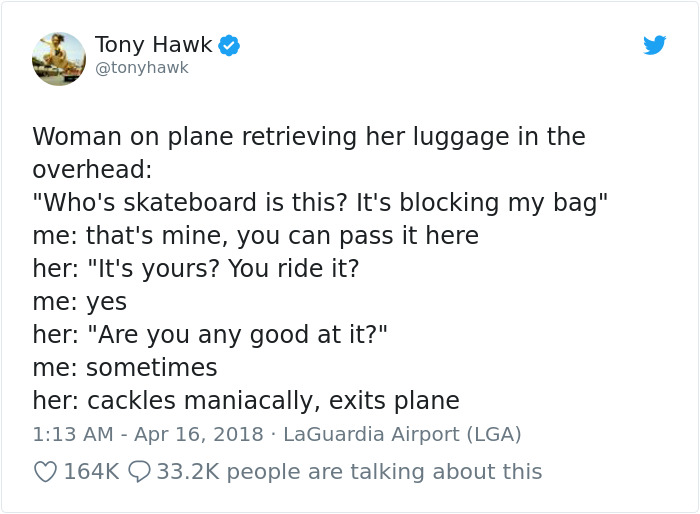 8 Embarrassing Moments People Didn't Realize They Were Talking To Tony Hawk And Made A Fool Out Of Themselves