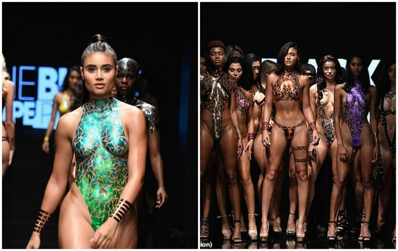 Мода, такая мода: дизайнер выпустил моделей на подиум в одной клейкой ленте