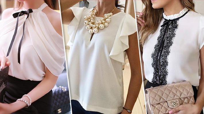 Актуальный тренд: 18 белых блузок без которых не обойтись