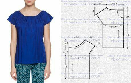Интересные идеи блузок и не только: с выкройками или вариантами моделирования 4