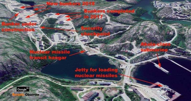 Северный флот возводит защищённые хранилища