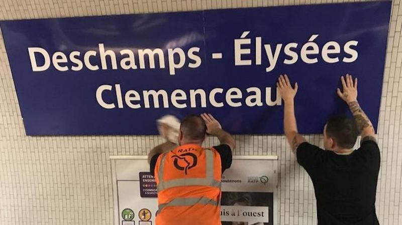«Хвала сборной!»: в Париже после победы на ЧМ-2018 были переименованы станции метро