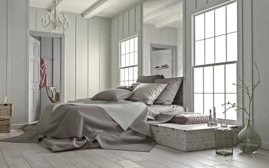 Серая спальня: уютный и очень элегантный интерьер в фото-идеях