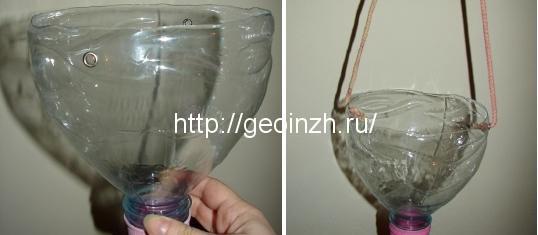 кашпо из пластиковой бутылки