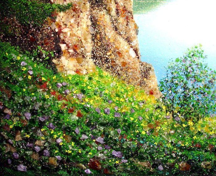 Картины из камня Алексея Мосмана