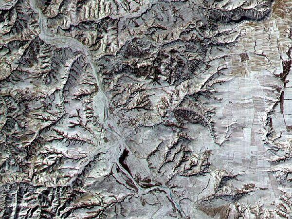 Великая Китайская стена, вид из Космоса
