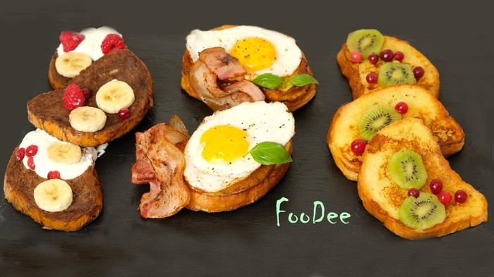 3 варианта гренок на завтрак Гренки, Завтрак, Рецепт, Еда, Кулинария, Видео, Длиннопост