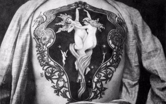 Роскошные татуировки Викторианской эпохи: херувимы, драконы и гербы