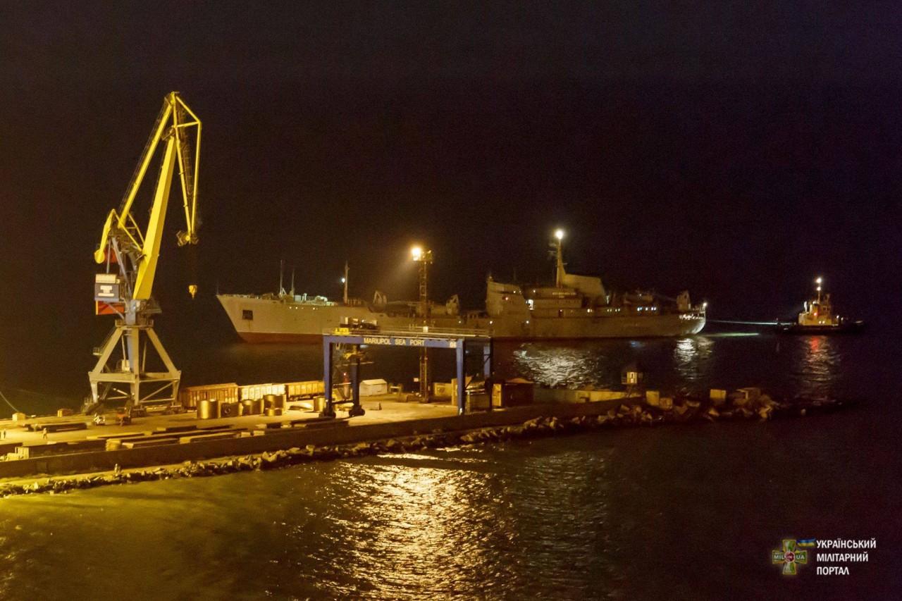 Украинские корабли прибыли в Мариуполь