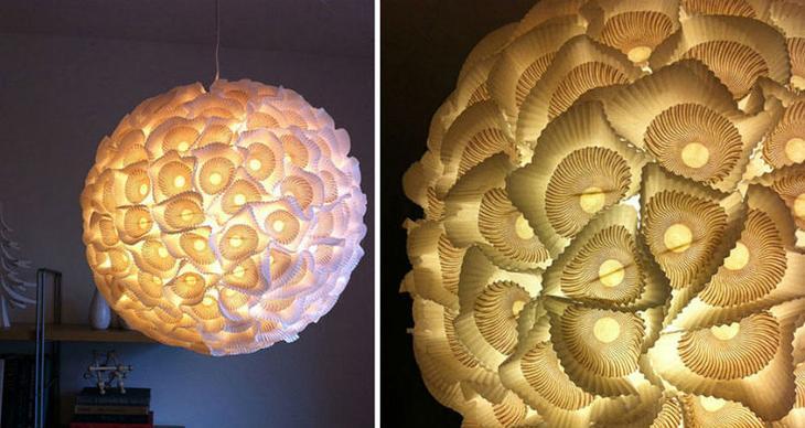 21 идея изготовления светильников и люстр из повседневных предметов