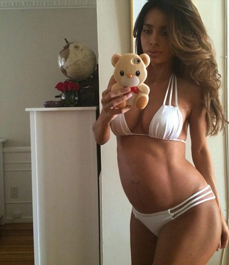 4 месяц беременности фото живота худенькой