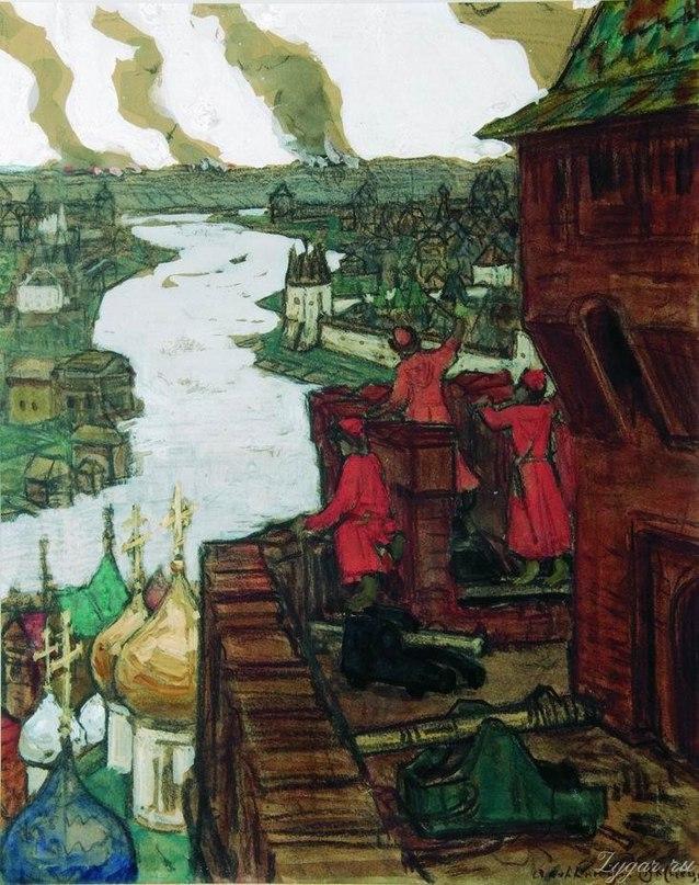 3 июня 1571 года войско крымского хана Девлет- Гирея I сожгло Москву.