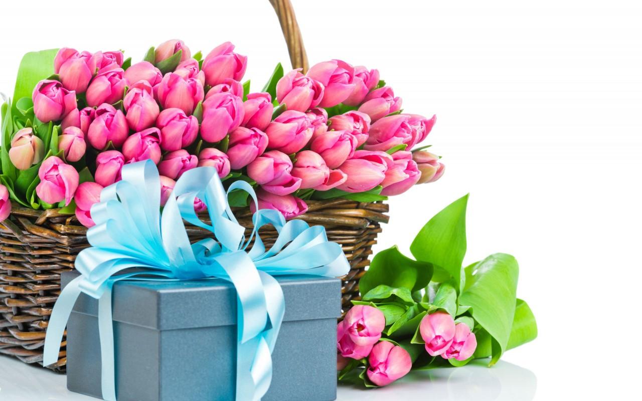 Красивые цветов и подарков