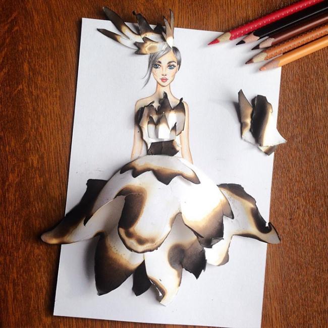 Волшебные платья художника Эдгара Артиса, на которые можно смотреть вечно
