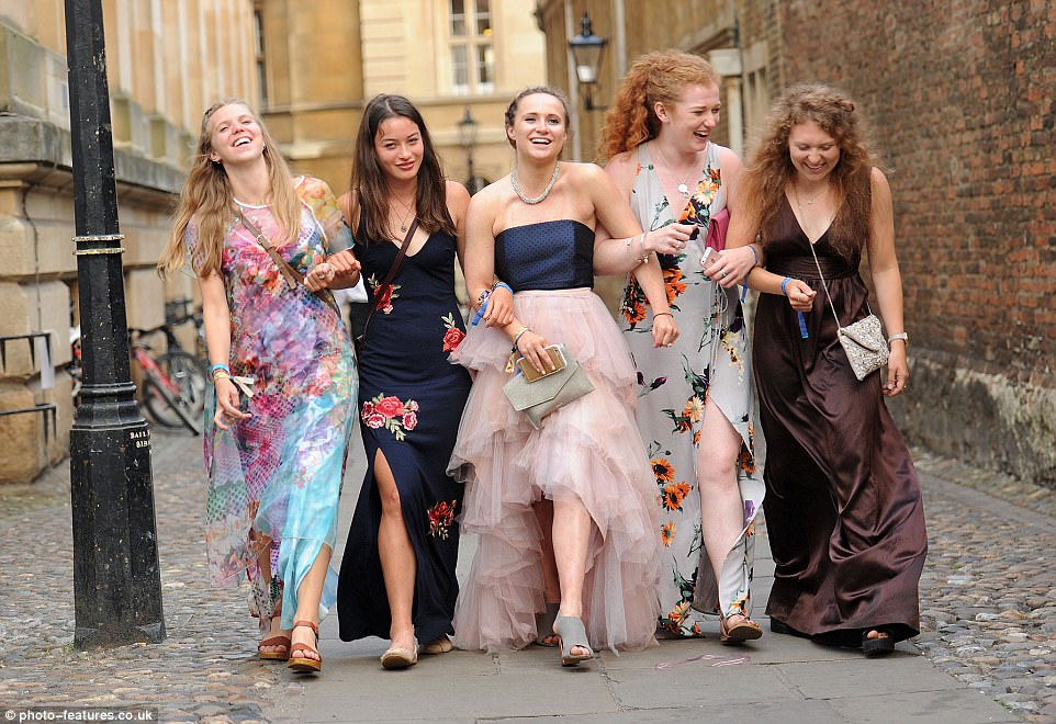 Students let their hair down at the annual ball where tickets can cost up to £200 a head for the evening entertainment