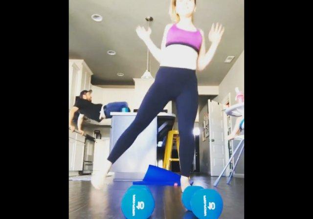 Тренировка с женой