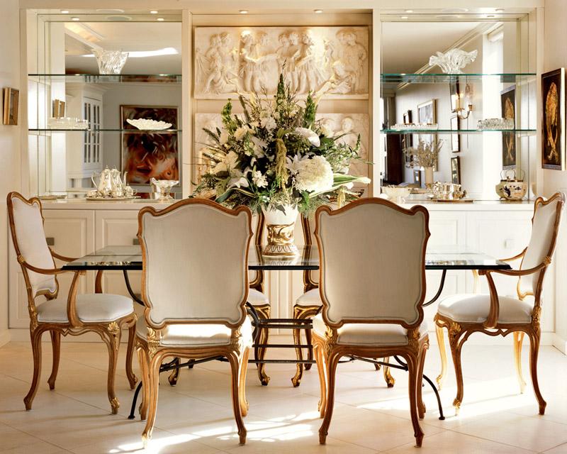 Стиль классицизм в интерьере столовой