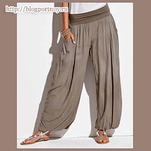 Как сшить широкие летние брюки на резинке