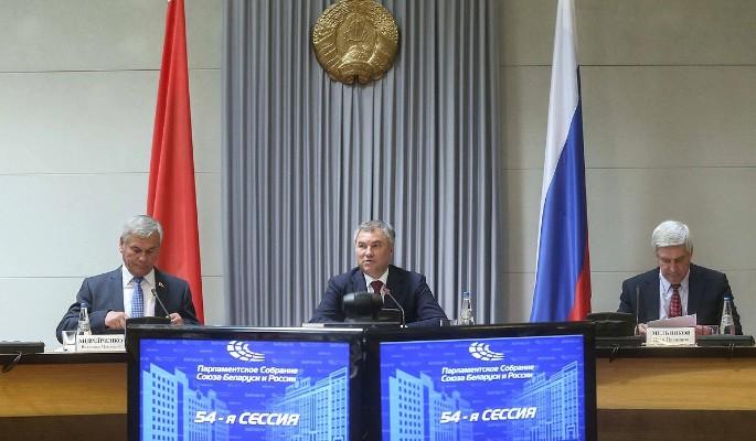В парламенте Союза Белорусси…