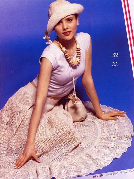 Очаровательная филейная юбка