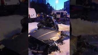Последствия ночного заезда отморозков на Кутузовском проспекте