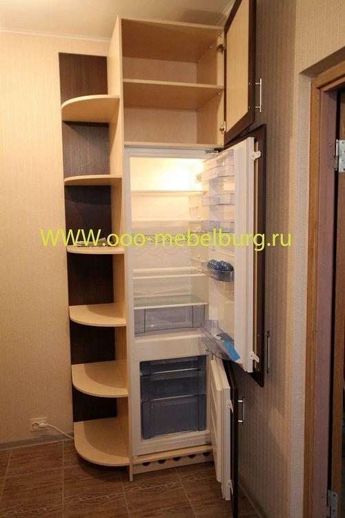 Как сделать встроенный шкаф купе с холодильником.