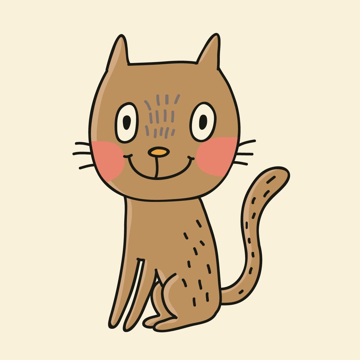 Кот совстроенным навигатором