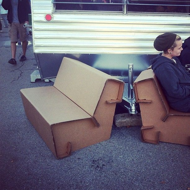 Lasercut cardboard furniture at #makerfaire | Flickr - Photo Sharing!