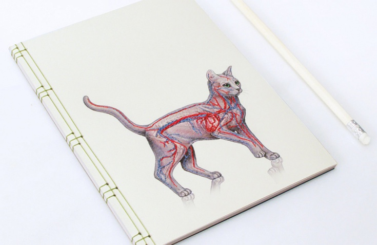 Вышитые блокноты Fabulous Cat Papers