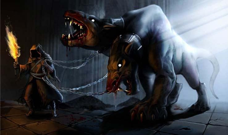 Цербер — трёхглавый монстр преисподней