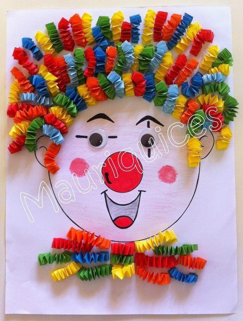 Детская территория. Клоуны - идеи для аппликаций с детьми