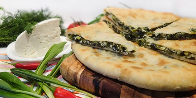 Рецепты: осетинские пироги с черемшой и сыром