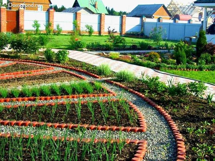 Красивые грядки красивый огород своими руками фото