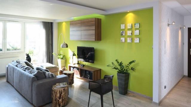 Зеленый цвет в гостиной, как использовать