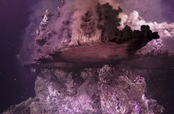 Подводный гейзер построил фантастический ландшафт в заливе Калифорнии