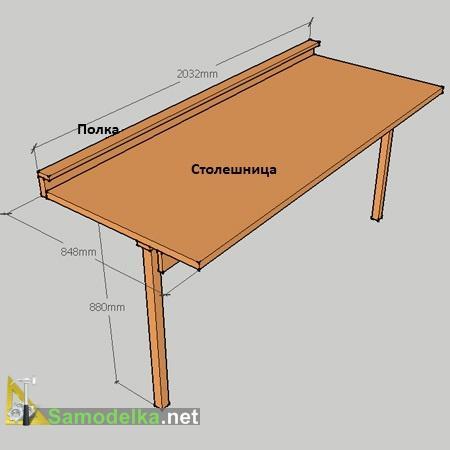 Откидной стол с креплением к стене своими руками + чертежи.
