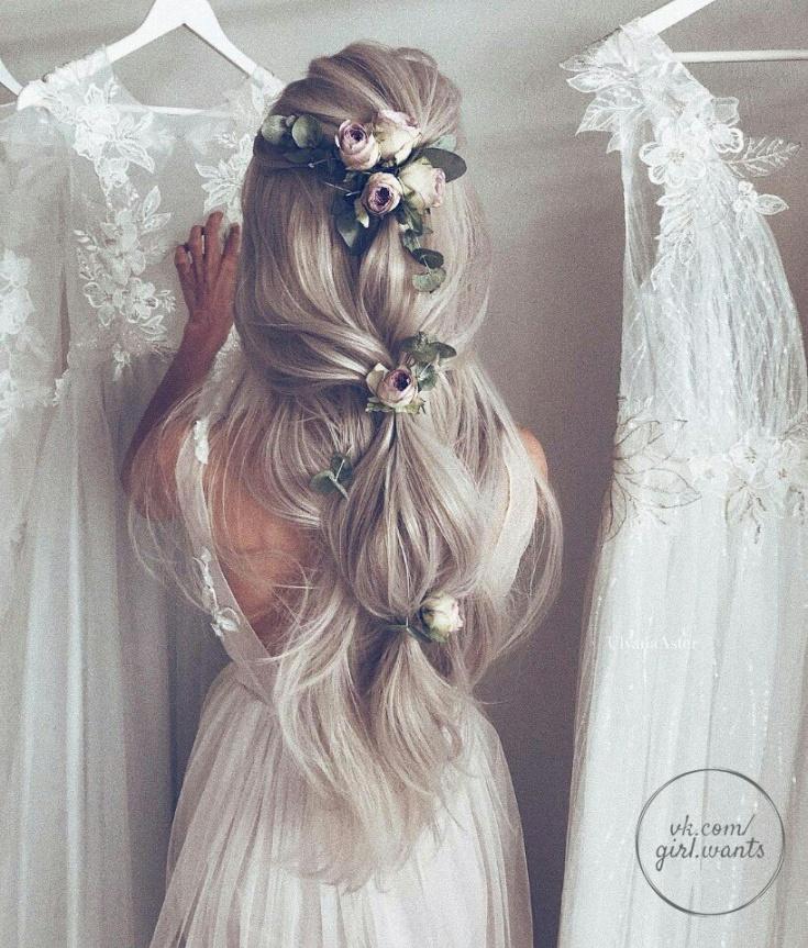 Прически бохо на свадьбу (подборка)
