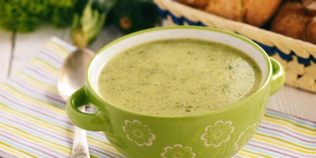 Классический суп-пюре из кабачков