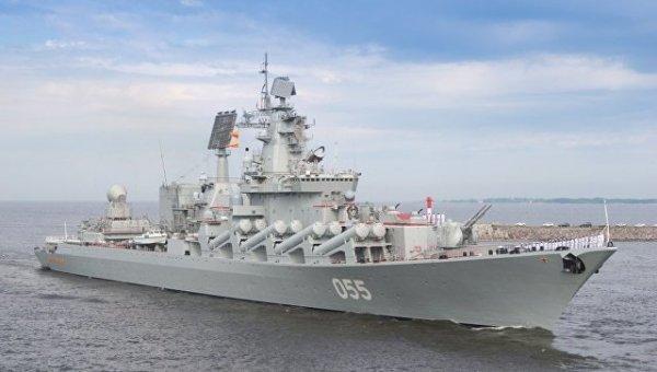 Корабли Севфлота с крейсером…