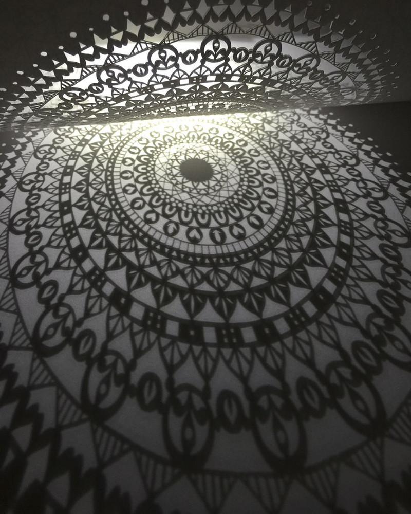 Мандала с 21 кругом Мандалы, бумага, зентангл, художник