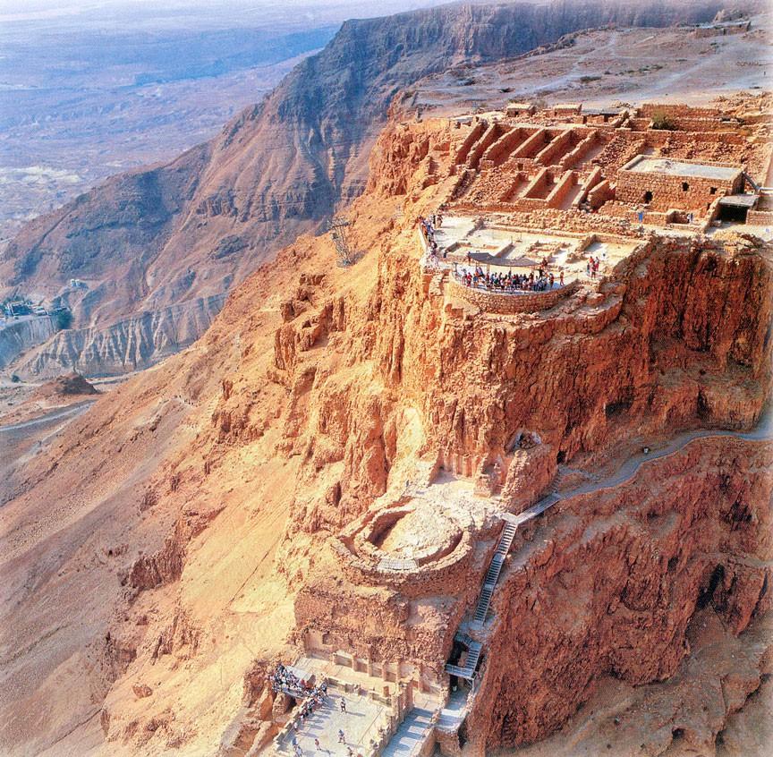 Масада - самая захватывающая крепость древней Палестины. Мифы и кровавая история (24 фото)