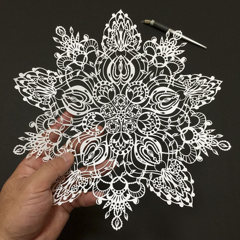 Зен-цветок Мандалы, бумага, зентангл, художник